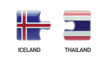 Thailand Iceland High Resolution Puzzle Concept photo