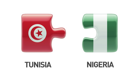 tunisie: Tunisia Nigeria High Resolution Puzzle Concept Stock Photo