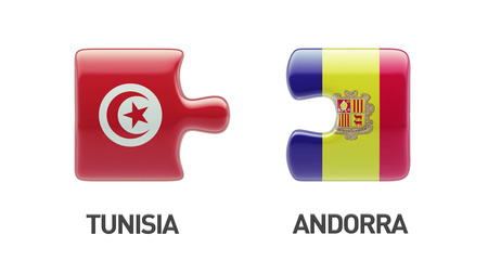 tunisie: Tunisia Andorra High Resolution Puzzle Concept Stock Photo