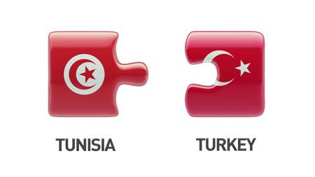 tunisie: Tunisia Turkey High Resolution Puzzle Concept