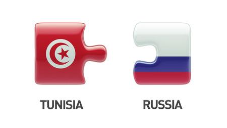 tunisie: Tunisia Russia High Resolution Puzzle Concept