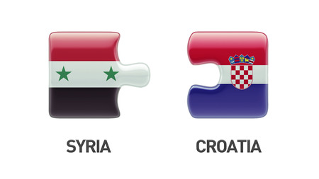 Syria Croatia High Resolution Puzzle Concept photo