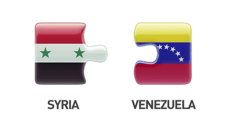 Syria Venezuela High Resolution Puzzle Concept photo