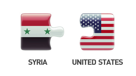 Syria United States High Resolution Puzzle Concept photo