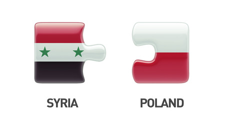 Syria Poland High Resolution Puzzle Concept photo