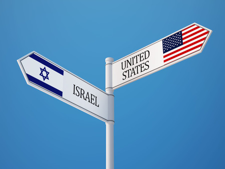 United States Israel High Resolution Sign Flags Concept photo