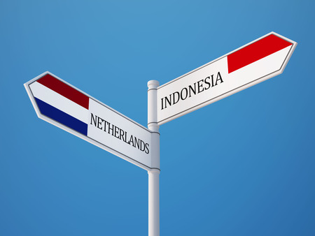 sumatra: Indonesia Netherlands High Resolution Sign Flags Concept