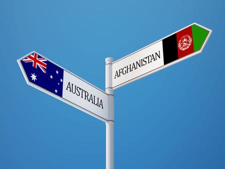 afghanistan': Afghanistan  Australia   Sign Flags Concept