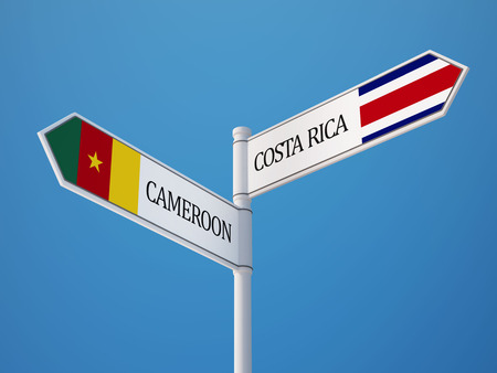 costa rican flag: Cameroon Costa Rica High Resolution Countries Sign Concept