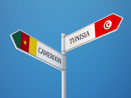 tunisie: Cameroon Tunisia High Resolution Countries Sign Concept