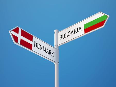 danish flag: Bulgaria Denmark High Resolution Sign Flags Concept