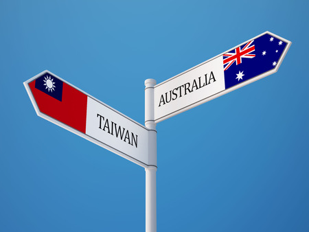 taiwanese: Taiwan Australia High Resolution Sign Flags Concept