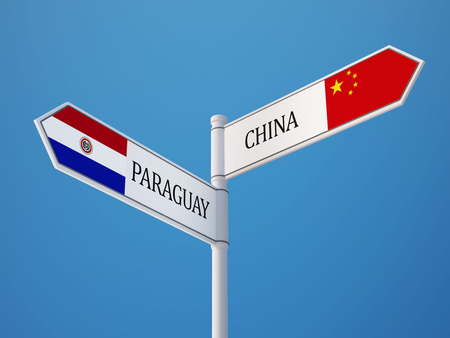 Paraguay China High Resolution Sign Flags Concept photo