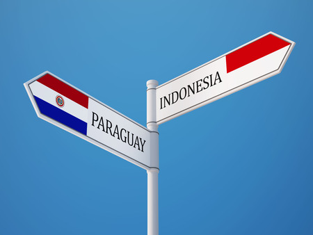 sumatra: Indonesia Paraguay High Resolution Sign Flags Concept
