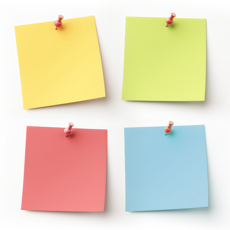 Blank Colorful Sticky Notes isolated on white Banco de Imagens - 29238444