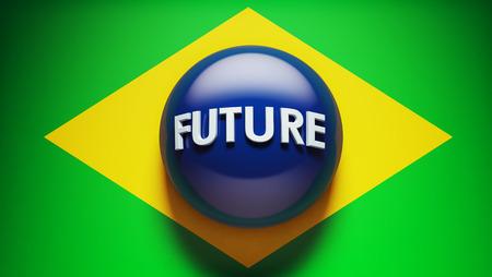 Brazil Future High Resolution Concept Flag Imagens