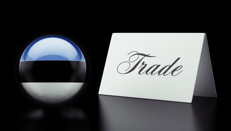 Estonia High Resolution Trade Concept photo