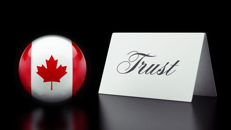 confianza concepto: Canad� High Resolution Trust Concept Foto de archivo