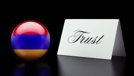 confianza concepto: Armenia alta Resolution Trust Concept