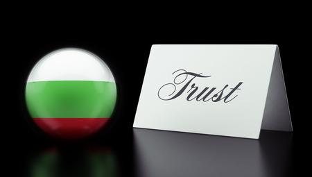 confianza concepto: Bulgaria alta Resolution Trust Concept
