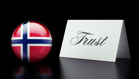 confianza concepto: Noruega Alta Resolution Trust Concept