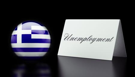 Greece High Resolution Unemployment Concept photo