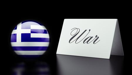 tussle: Greece High Resolution War Concept