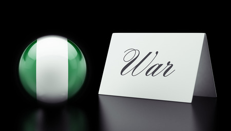 tussle: Nigeria  High Resolution War Concept