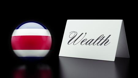 Costa Rica  High Resolution Wealth Concept