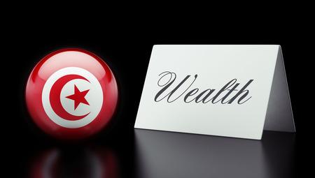 Tunisia High Resolution Wealth Concept