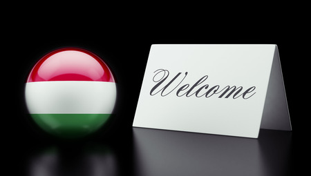 Hungary High Resolution Welcome Concept Stock Photo