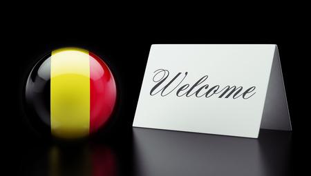 appreciated: Belgium High Resolution Welcome Concept Stock Photo