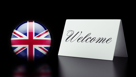 appreciated: United Kingdom High Resolution Welcome Concept Stock Photo