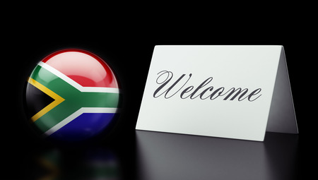 South Africa High Resolution Welcome Concept Stock Photo