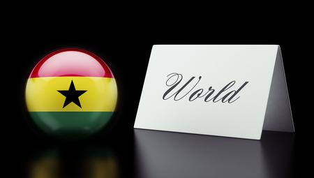 Ghana High Resolution World Concept photo