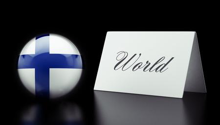 Finland High Resolution World Concept photo