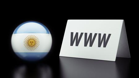 Argentina High Resolution www Concept photo