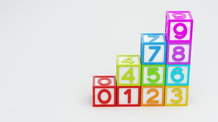 Box Number Toy isolated on white background Stock Photo - 29050374
