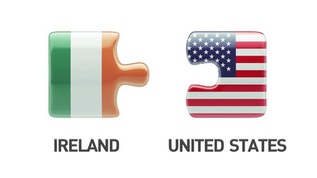United States Ireland High Resolution Puzzle Concept photo