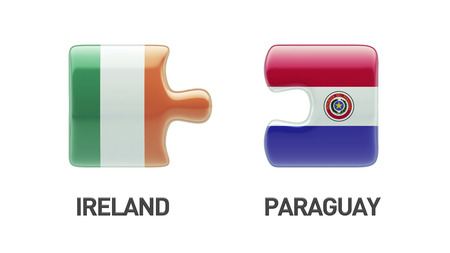 Paraguay Ireland High Resolution Puzzle Concept photo