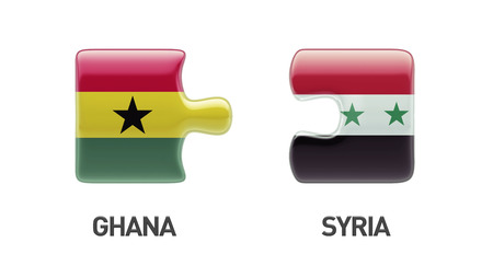 Syria Ghana High Resolution Puzzle Concept photo