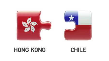 Chile Hong Kong High Resolution Puzzle Concept photo
