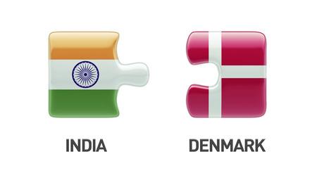 Denmark India High Resolution Puzzle Concept photo