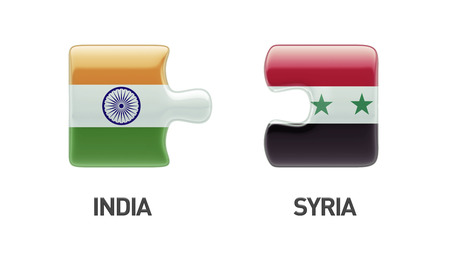 Syria India High Resolution Puzzle Concept photo