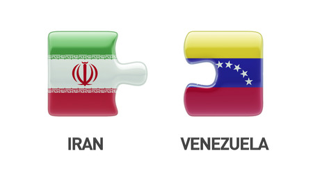 Venezuela Iran High Resolution Puzzle Concept photo