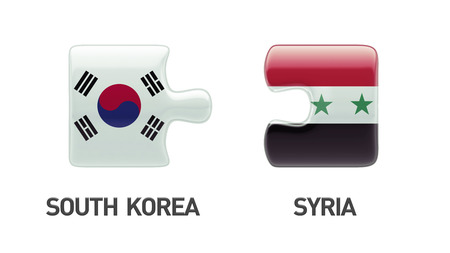 South Korea Syria Countries High Resolution Puzzle Concept photo