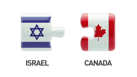 Canada Israel High Resolution Puzzle Concept photo