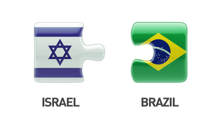 Brazil Israel High Resolution Puzzle Concept photo