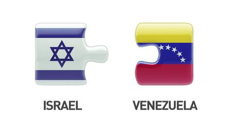Venezuela Israel High Resolution Puzzle Concept photo