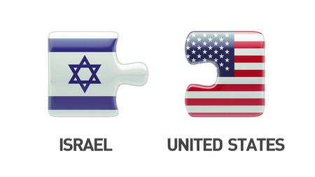 Verenigde Staten Israël met hoge resolutie Puzzle Concept Stockfoto